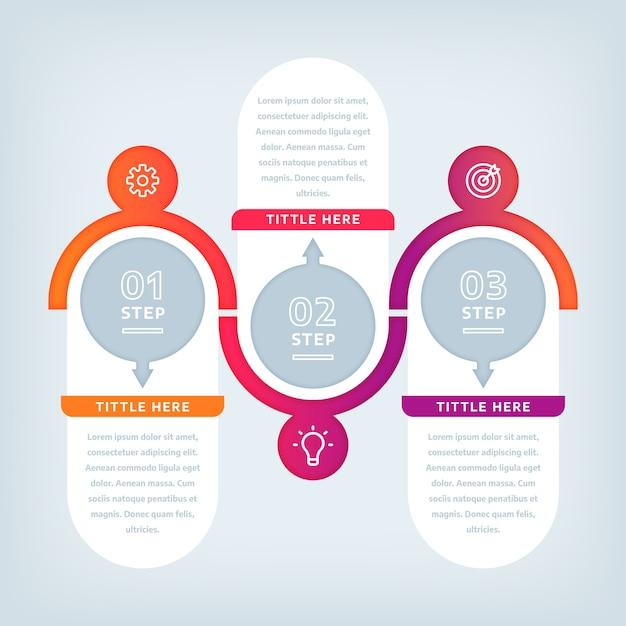 Étapes D'infographie Design Plat Vecteur gratuit