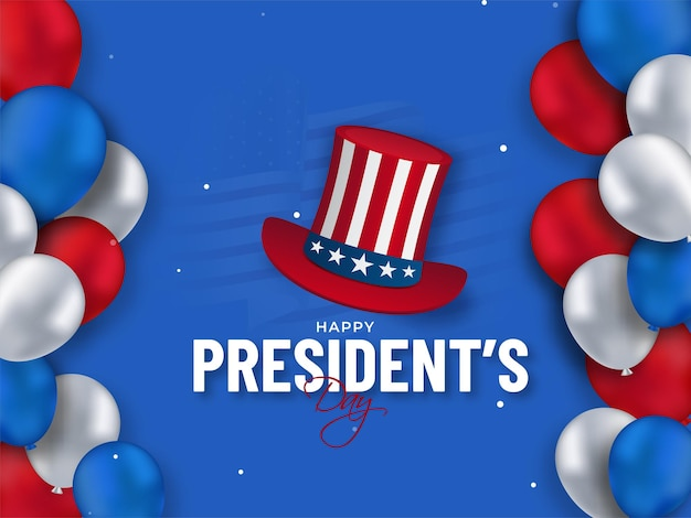 États-unis D'amérique, Concept De La Journée Du Président Vecteur Premium