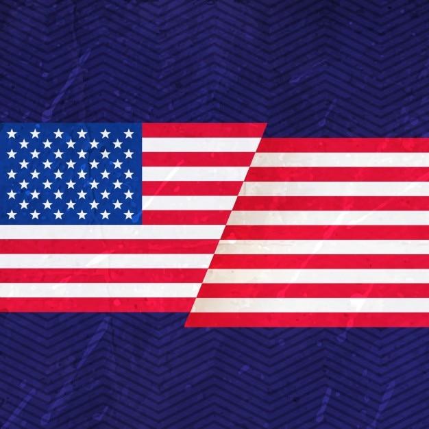 Les Etats Unis D'amérique Drapeau Vecteur gratuit