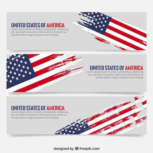 Etats-unis D'amerique Vecteur Premium