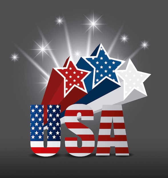 États-unis Design. Vecteur gratuit