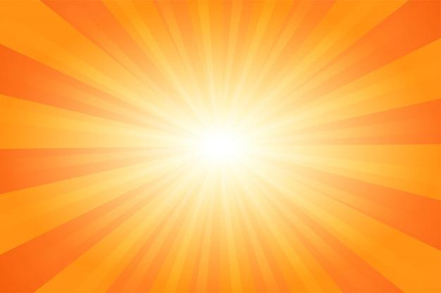 Été orange abstrait bande dessinée bande dessinée fond de lumière du soleil. Vecteur Premium