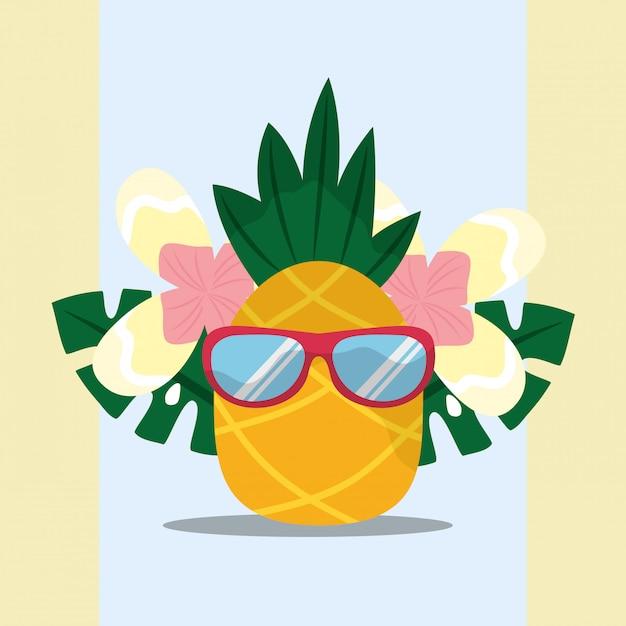 Été tropical Vecteur Premium