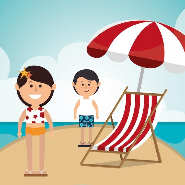Été, vacances et voyages Vecteur gratuit