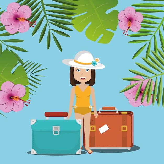 Été, voyage et vacances Vecteur gratuit