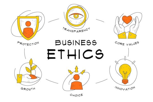 Éthique Des Affaires Dessinée à La Main Vecteur gratuit