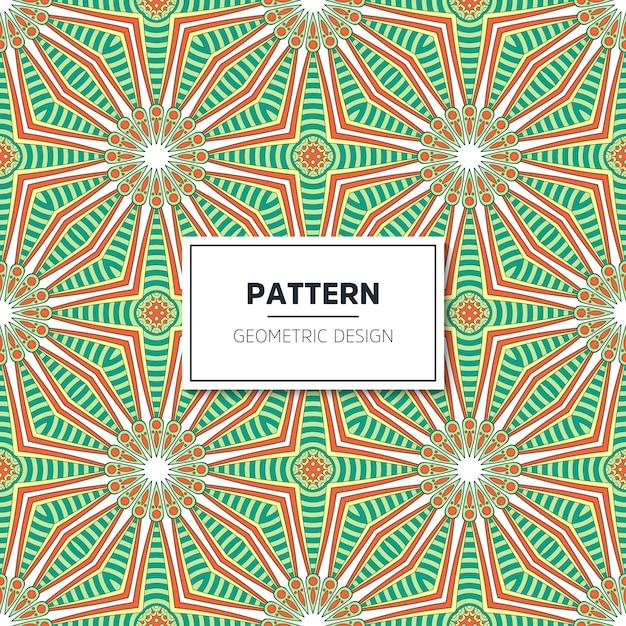 Ethnique motif floral sans couture avec mandalas Vecteur gratuit
