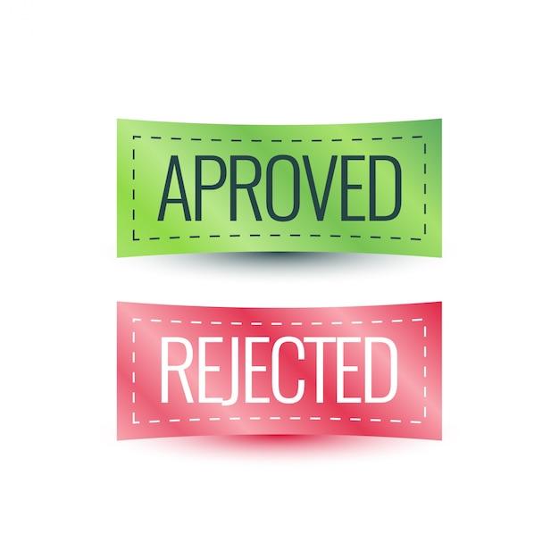 Étiquette Aprove, Conception D'étiquette Rejetée Vecteur Premium