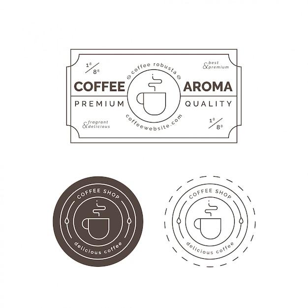 Etiquette Et Badge Café Premium Vecteur Premium