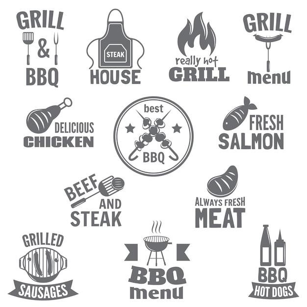 Étiquette De Barbecue Vecteur gratuit