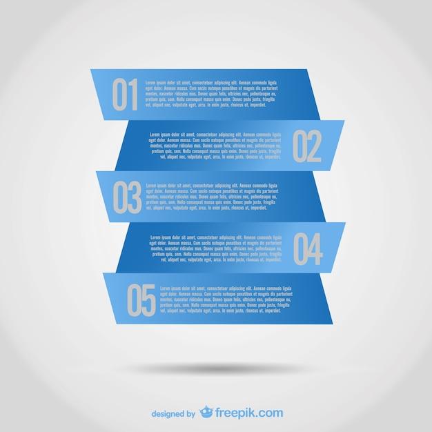 Étiquette Bleue Conception Infographique Vecteur gratuit