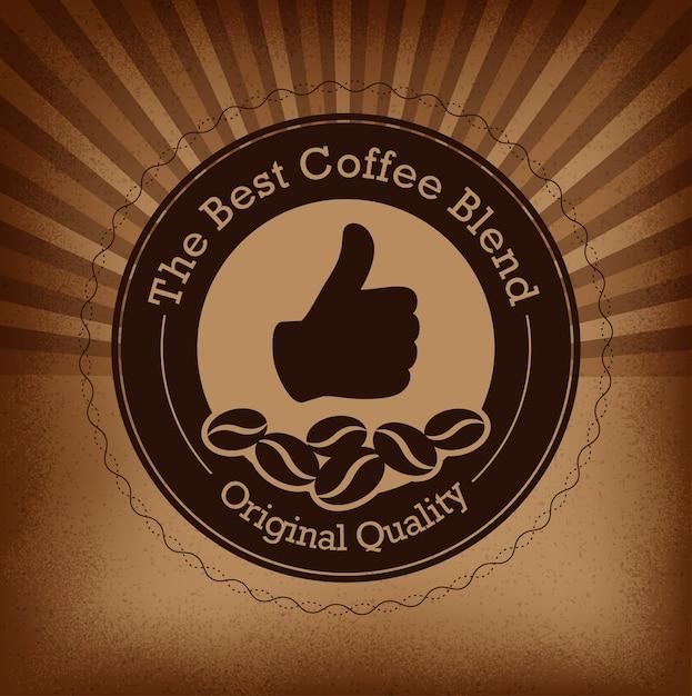 Etiquette de café haut de gamme Vecteur Premium