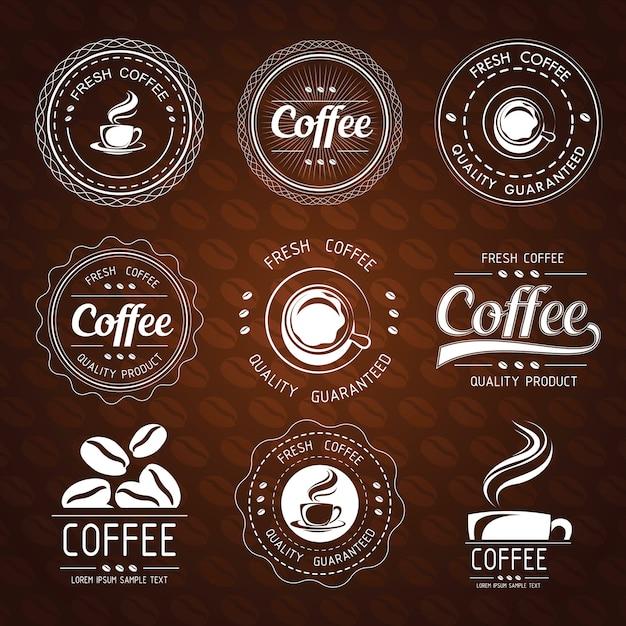 Étiquette De Café Vecteur Premium