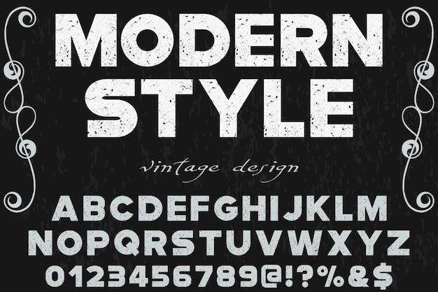 Étiquette design alphabet moderne Vecteur Premium