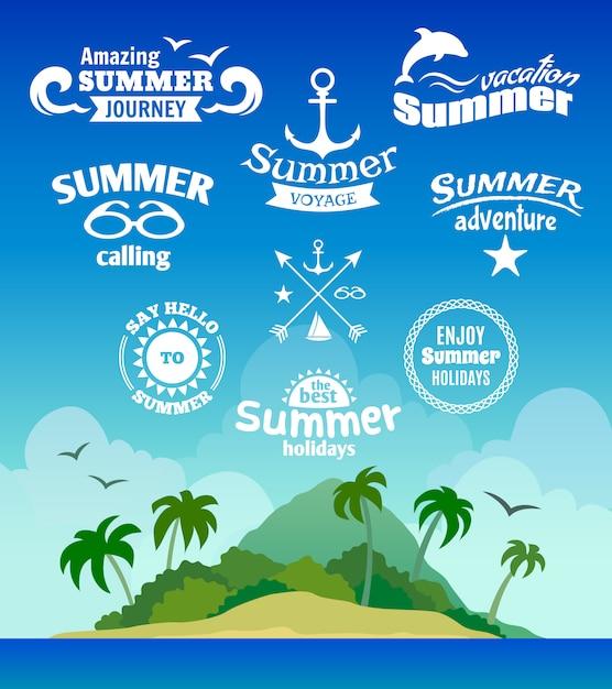 Étiquette d'élément d'été Vecteur gratuit