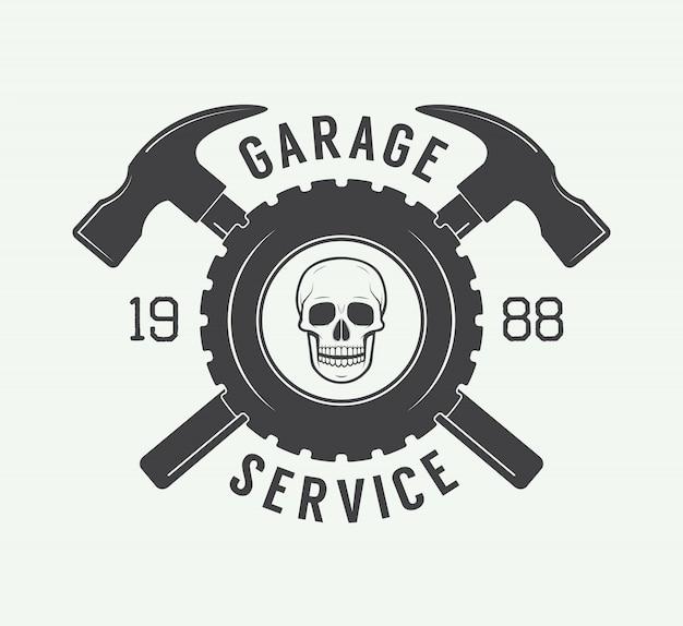 Étiquette, emblème et logo de mécanicien. Vecteur Premium
