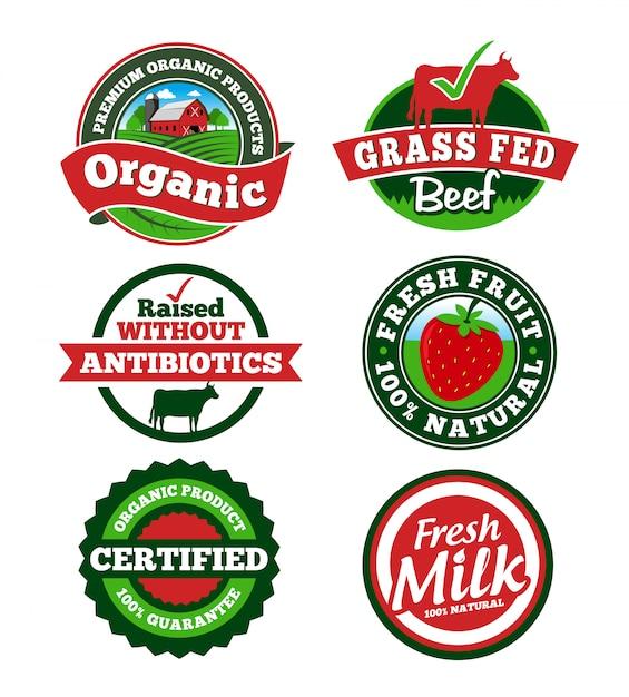 Étiquette de ferme Vecteur Premium