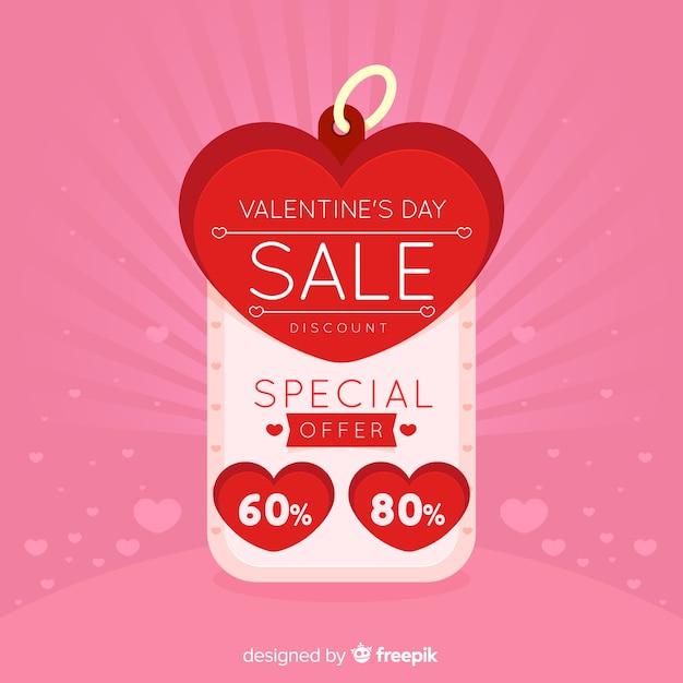 Étiquette fond de vente saint valentin Vecteur gratuit