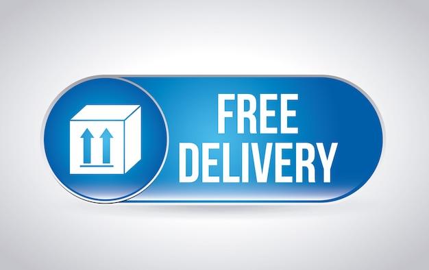 Étiquette de livraison sur gris Vecteur gratuit