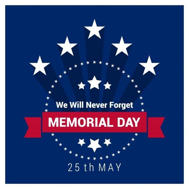 Étiquette memorial day vintage Vecteur gratuit