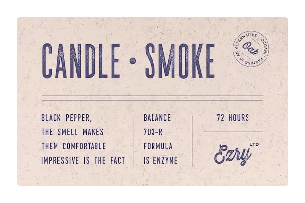 Étiquette Minimale Vintage. Ensemble D'étiquette Vintage Moderne Graphique, Tag Vecteur Premium
