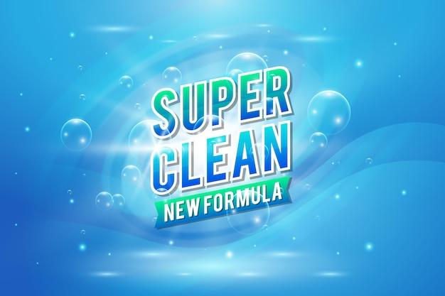 Étiquette De Nettoyant Viricide Et Bactéricide Vecteur Premium