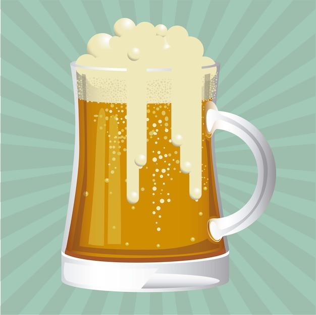 Étiquette sans bière Vecteur Premium