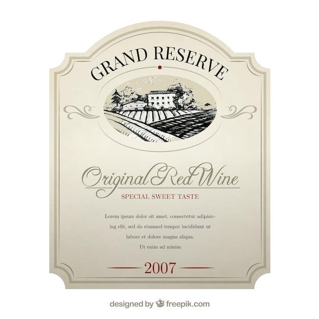 étiquette De Vin élégante Télécharger Des Vecteurs