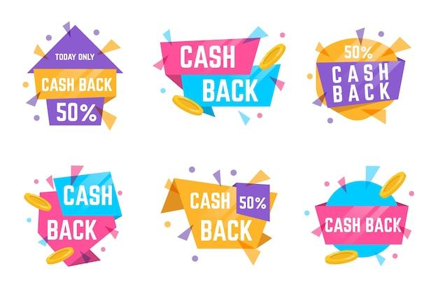 Étiquettes Et Badges Cashback Aux Couleurs Pastel Vecteur gratuit