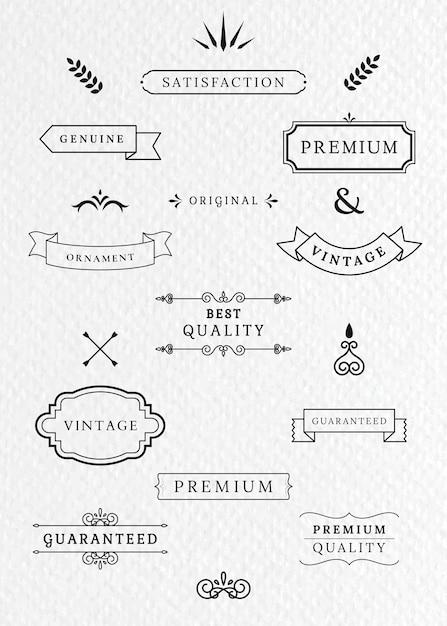 Étiquettes et bannières vintage Vecteur gratuit