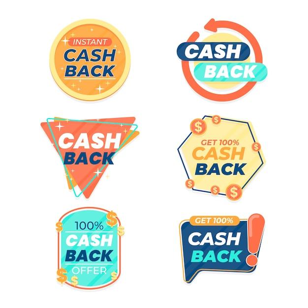 Étiquettes De Cashback Vecteur gratuit