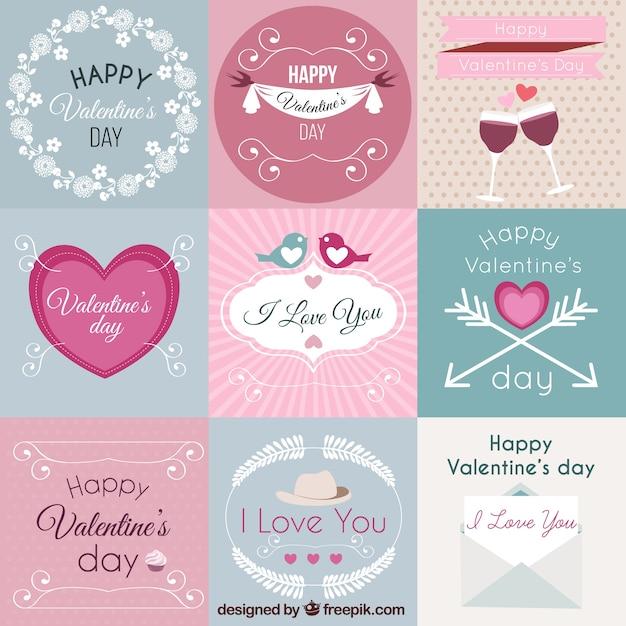 Tiquettes de saint valentin emballent t l charger des - Image st valentin a telecharger gratuitement ...