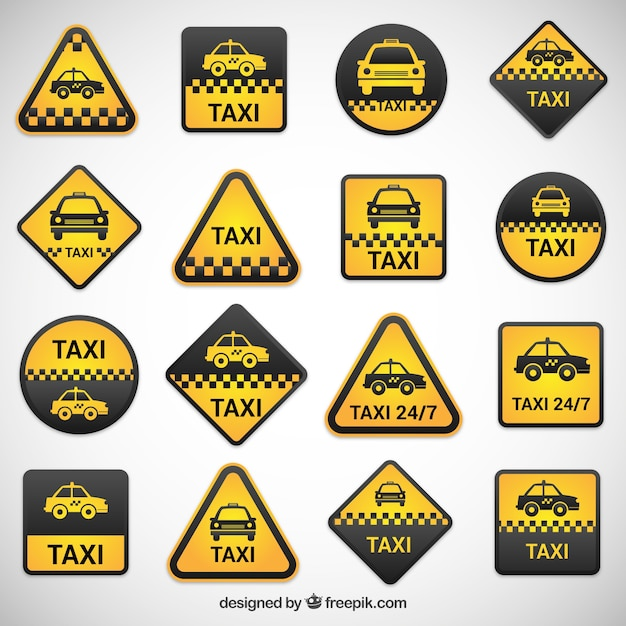tiquettes de taxi r gl s t l charger des vecteurs gratuitement. Black Bedroom Furniture Sets. Home Design Ideas