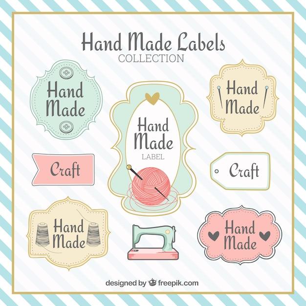 Étiquettes fantastiques à propos de l'artisanat Vecteur gratuit