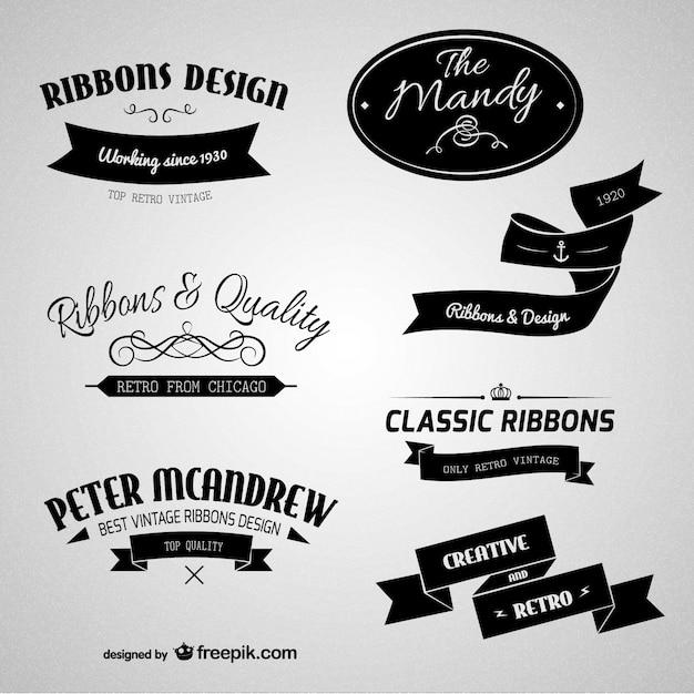 Étiquettes de marque rétro Vecteur gratuit