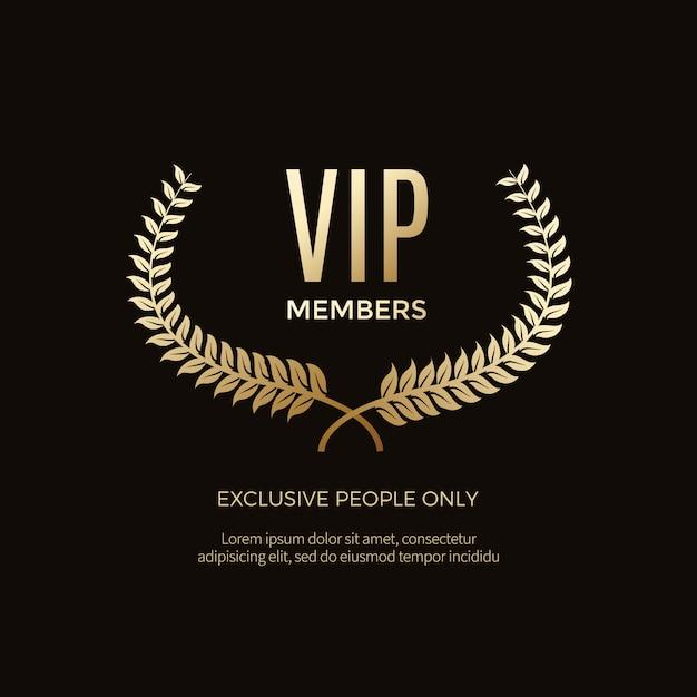 Etiquettes et objets vip de luxe Vecteur Premium