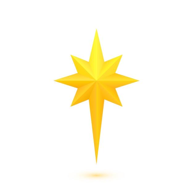 L'étoile de béthlehem Vecteur Premium