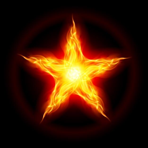 Étoile De Feu | Vecteur Premium