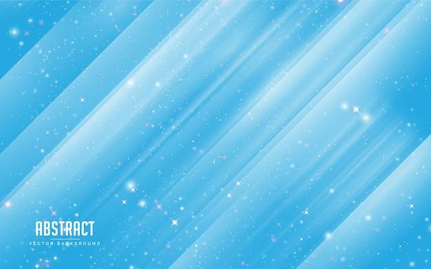 Étoile de fond abstrait et cristal coloré en bleu et blanc. moderne minimal eps 10 Vecteur Premium