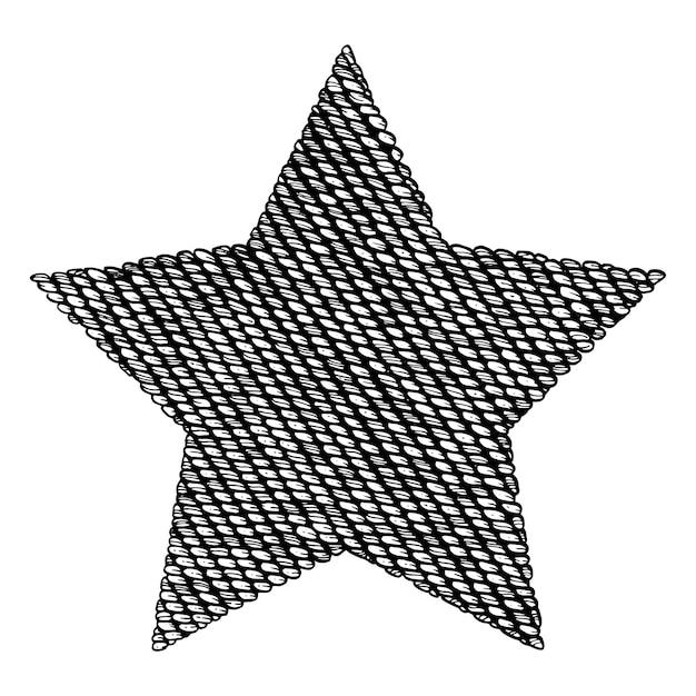 Étoile Tricotée. Vecteur Premium