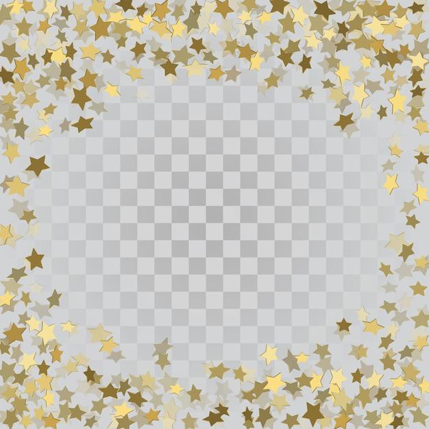 Étoiles 3d or sur fond transparent Vecteur Premium