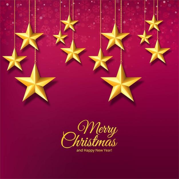 Étoiles Décoratives De Noël Et Flocons De Neige Vecteur gratuit