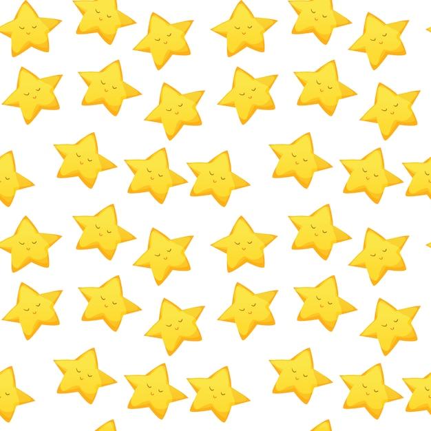 Étoiles design pattern Vecteur gratuit