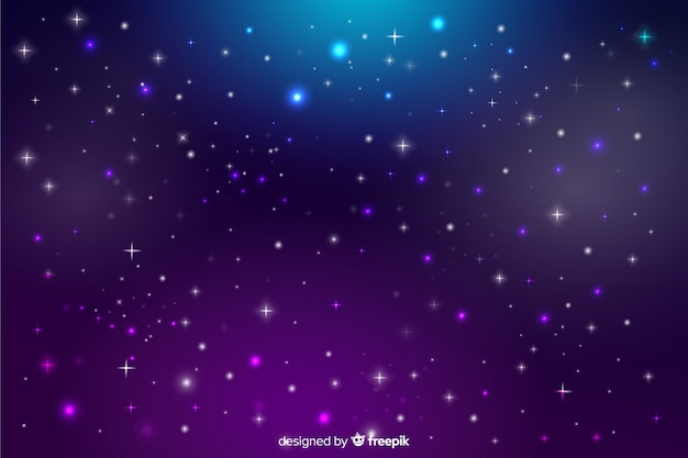 Étoiles floues sur un ciel de nuit dégradé Vecteur gratuit
