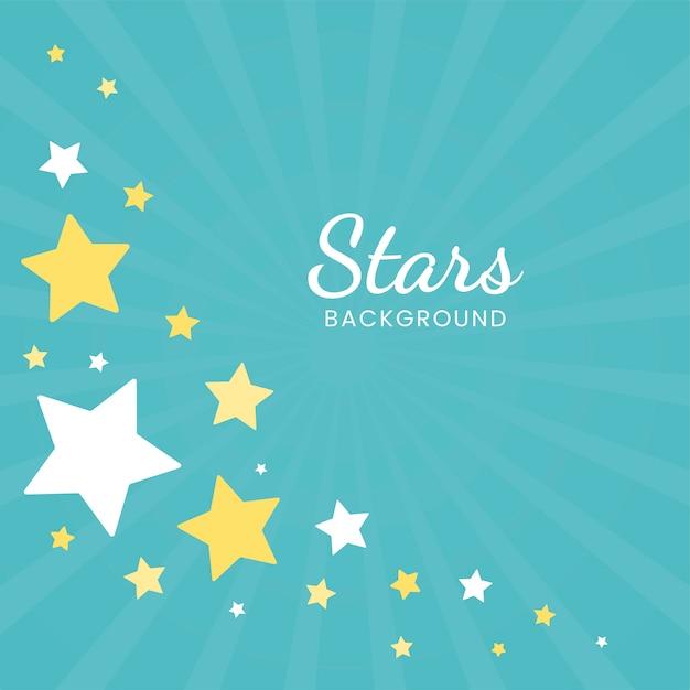 Étoiles Fond Bleu Vecteur gratuit