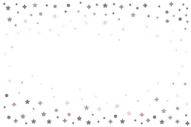Étoiles Lumineuses Cadre Design Fond Vecteur gratuit