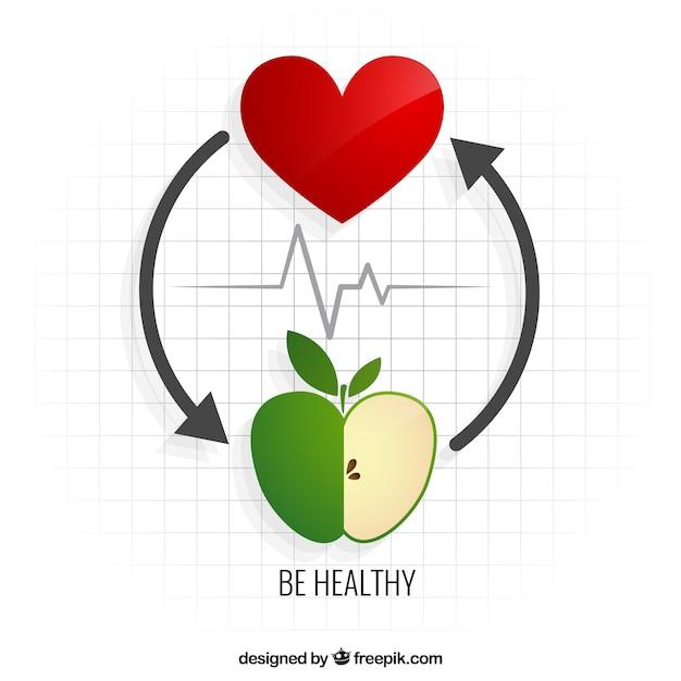 Être en bonne santé Vecteur gratuit
