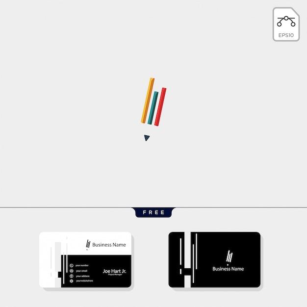 Étude stylo créatif logo modèle illustration vectorielle Vecteur Premium
