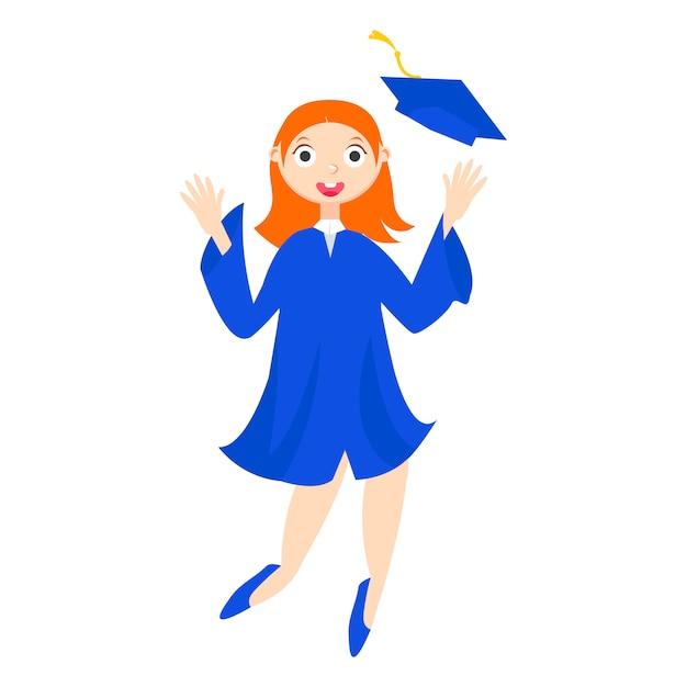 Un étudiant diplômé avec un diplôme Vecteur gratuit