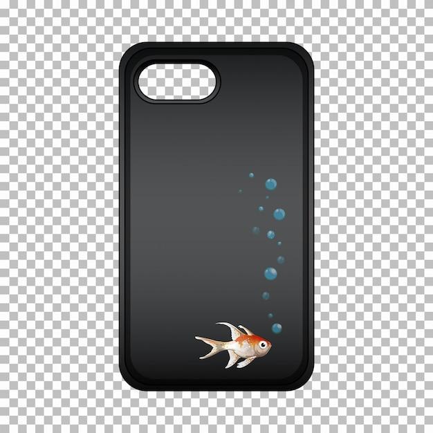 Étui pour téléphone portable avec poisson mignon Vecteur gratuit